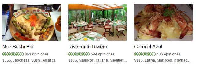 TripAdvisor Gastronomía