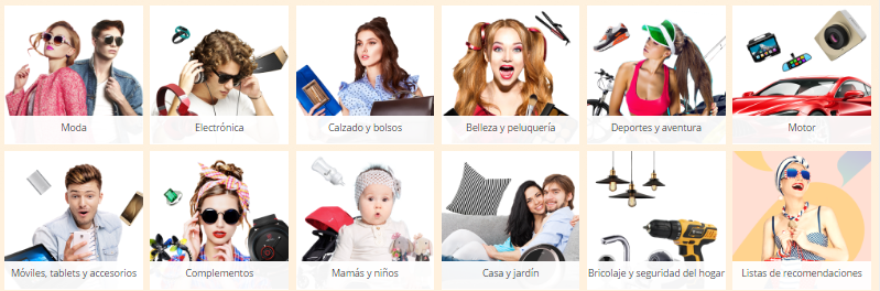 Ofertas Categorías AliExpress